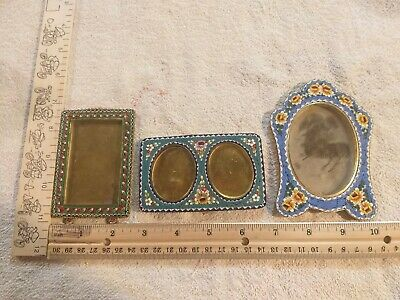 3 Antique Micro mosaic picture frame