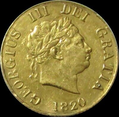 1820 Gold Great Britain 3.994 Grams Rare 1/2 Sovereign George Iii * Solder
