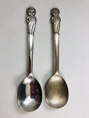 2 - Vintage 1960s Campbell's Soup Boys International Silver Spoons