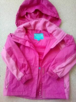Lovely pink coat waterproof age 3-4 years Mountain warehouse fab!!!