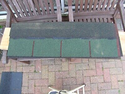 Job Lot Of Felt Roofing Tile/Shingles Different Colours  Red Green Grey Unused