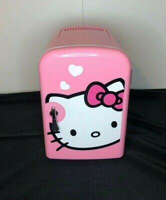 Hello Kitty Personal Mini Fridge Warms and Cools Pink With Handle