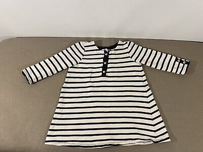 Petit Bateau Baby Girl long-sleeved striped Dress Top Age 36 Months / 95cm