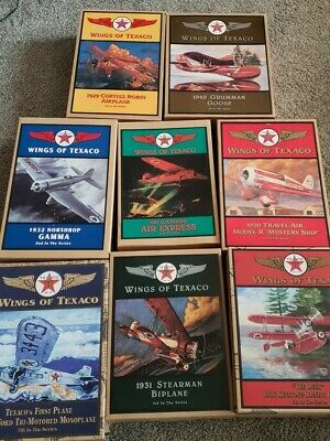 Lot Of 8 Vintage Wings Of Texaco Diecast Airplane