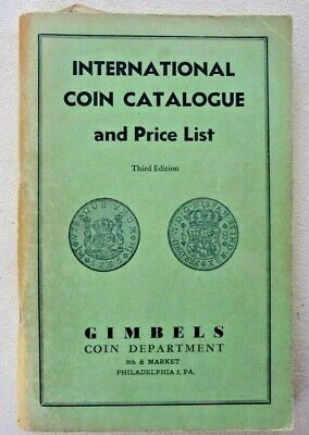 International Coin Catalog And Price List - Third Edition - 1953 - Gimbels Coin