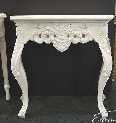 Wall Bracket White Sideboard Baroque Antique Console Large Table Wandkommode New