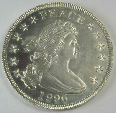"""Gallery Mint 1996 Silver Dollar """"Peace"""" / United State of Merriment, Ron Landis"""
