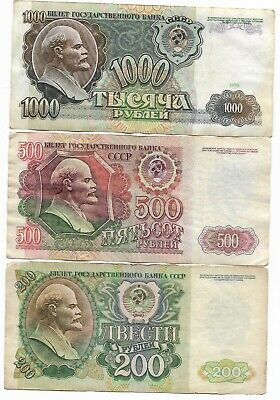 Rare Old CCCP Lenin Russian Ruble Notes Money Collection COLD WAR Dollar Big Lot