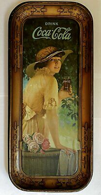 1916 Coca-Cola Tin Litho Advertising Serving Tray Large Elaine Coke Tray