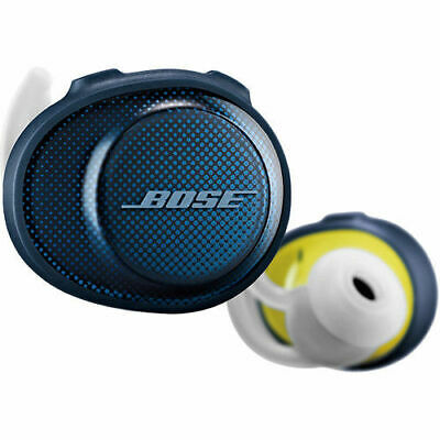Bose SoundSport Bluetooth Wireless In-Ear Headphones Earbuds | Navy/Citron
