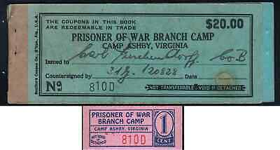 POW Camp Ashby Branch Camp 1 cent chit uncirculated
