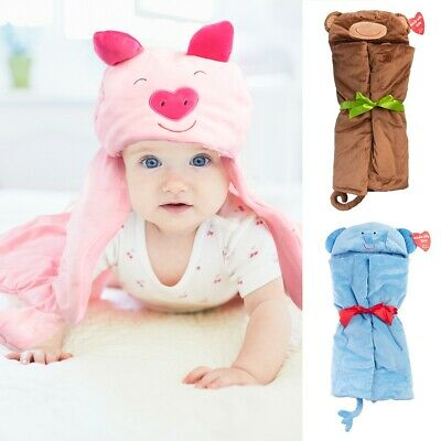 b. Boutique Animal Hooded Towel For Kids Soft Baby Bath Toys Toddlers Boys Girls