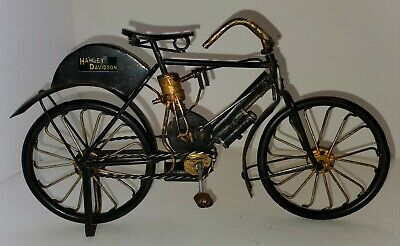 "Harley Davidson Replica Model Bike, Motorcycle, Bicycle 6"" x 10""-Metal"