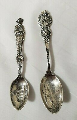 Antique Sterling Silver STOCKTON, CA,  Spoons, Stockton Harbor, Courthouse