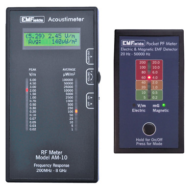 EMFields Acoustimeter AM-10 RF Meter / PF5 Low Frequency Meter Combo