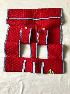 New  Red Quilted Shopping Cart & High Chair Cover Germ Protecting Sailboat