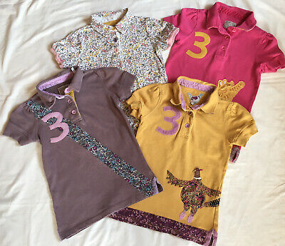 Little Joules Girls Age 9-10years Polo T.Shirts Tops Bundle X4!