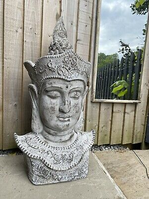 Large Stone Effect Garden Buddah 75cm High New In Box