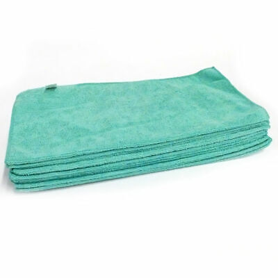 "HP Textiles 16"" x 16"" Microfiber Cleaning Towel in Green, 204-Pack"