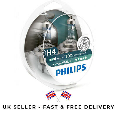 Philips 35520828 X-Treme Vision G-Force H1 130/% Extra Light Bulb Twin Pack
