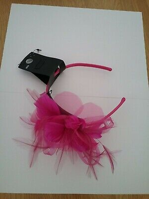 Marks and spencer womens Pink Feather/Jewel Headband Fascinator BNWT