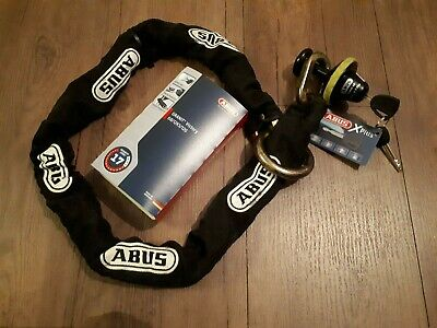 Abus Granit Victory X-Plus 68 + 12KS120 Loop Schloss-Ketten-Kombination (120cm)
