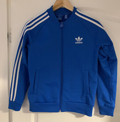 Blue Age 11-12 Years Adidas Zip Front Tracksuit Top/ Jacket Boys Or Girls