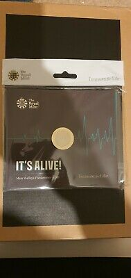 2018 Mary Shelley's Frankenstein Two Pound Coin £2 Presentation Pack BU Unopened