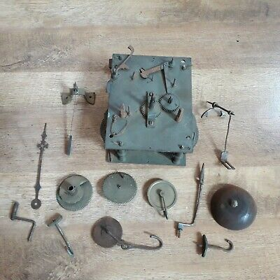 Antique Clock Movement Spares or Repair + Others