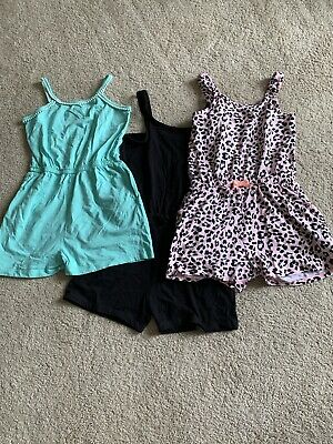 Girls 3 x Playsuits Age 9-10 Years