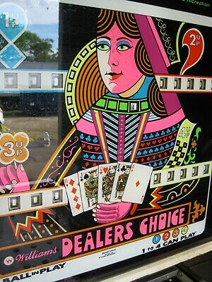 WILLIAMS DEALERS CHOSICE Pinball Machine ( PRICED TO SELL )