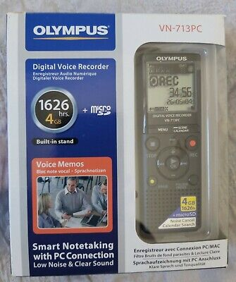 Olympus voice recorder Digital VN - 713PC In box- opened but never used