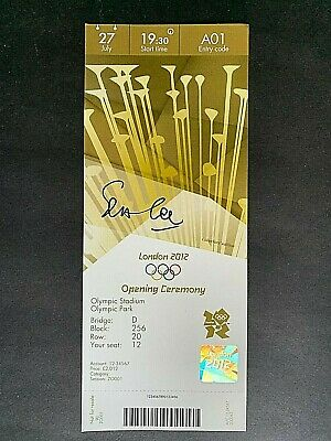 2012 London Olympic Personally Signed Ticket by  Seb Coe