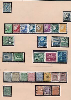 XC14720 Germany airmail service stamps fine lot used