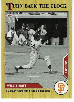 Willie Mays 2020 Topps Now Turn Back The Clock 31
