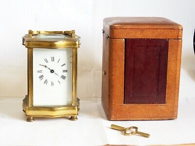French Carriage Clock – 8-day with original case and key approx 1920