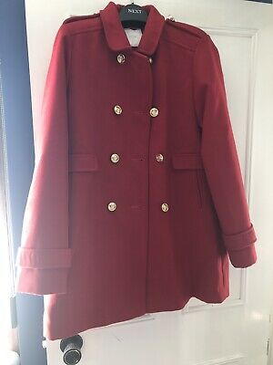 Brand New With Tags Girls Gorgeous Red Coat From Next Size 14 Years