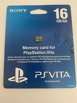 New In Pack Official genuine Sony PlayStation Vita (PS Vita) 16Gb memory card.