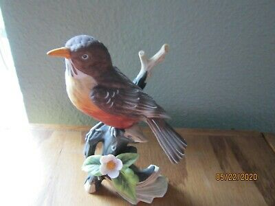 "Dave GROSSMAN ROBIN Bird figurine Collectable 6"" BEAUTIFUL Japan Vintage"