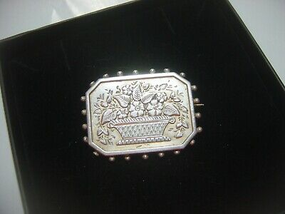 Stunning Solid Silver Victorian Mourning Brooch-So Very Beautiful-Good Condition