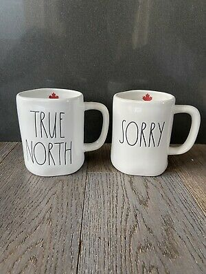 """Rae Dunn """"True North"""" And """"Sorry"""" Mugs Canada Exclusive"""