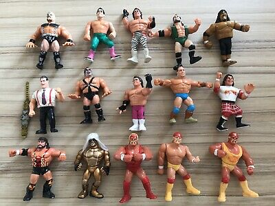WWF WWE Hasbro Wrestling Action Figures Bundle 15 w/ Accessories