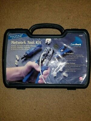 DataShark Computer Network Phone Jack Installation Tool Kit with Carrying Case