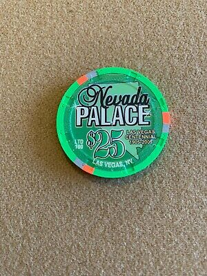 $25 Nevada Palace - Awesome Chip! Hard To Find! Must Have! Top Condition! Mint!!
