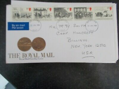 Royal Mail Fdc First Day Cover - The Royal Mint - Derby Franked 31-7-1984