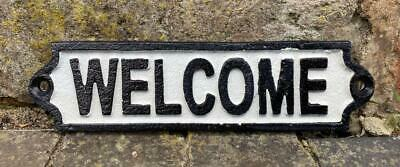 Cast Iron Wall Sign - WELCOME - Free Postage - 18cm x 5cm