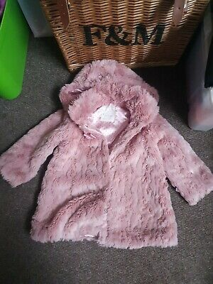 Pink Fur Coat Size Age 3-4
