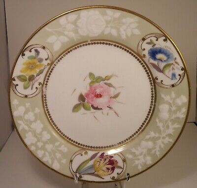 """Superbly Decorated Worcester Chamberlains Heavily Potted 8.25"""" Cabinet Plate (2)"""