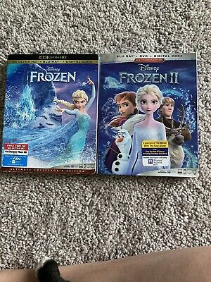 Frozen 1 & 2 (DVD, 2020) Like New Viewed Once