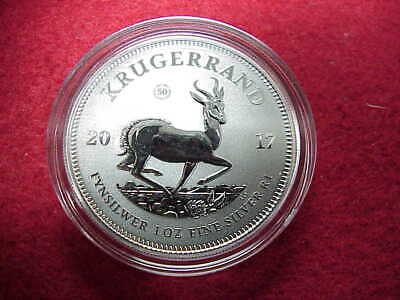 2017 South Africa~ 1 oz. .999 Silver~ Krugerrand GEM 50th Ann.~ Premium BU~NICE!